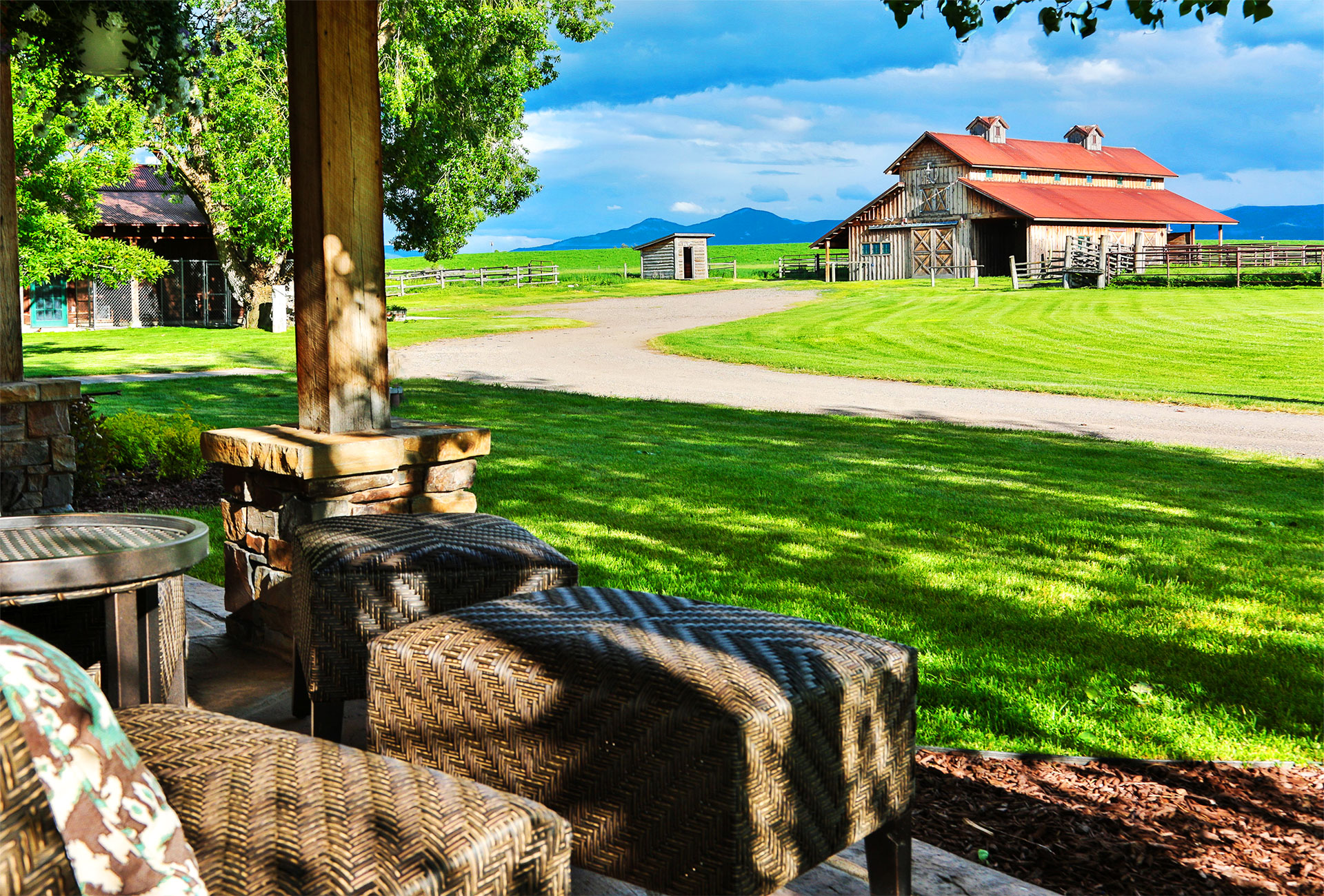 Homepage slide for The Lodge at Heritage Ranch - Bozeman Montana
